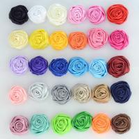 Haarschmuck DIY Ergebnisse, Stoff, Blume, handgemacht, 3D-Effekt, keine, 35mm, 20PCs/Tasche, verkauft von Tasche