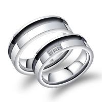 Titanstahl Paar- Ring, verschiedene Stile für Wahl & Micro pave Zirkonia, 6mm, verkauft von PC