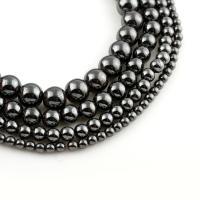 Hämatit Perle, rund, natürlich, verschiedene Größen vorhanden, verkauft per ca. 15 ZollInch Strang