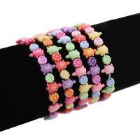 Acryl Armbänder, für Frau & chemische-Waschanlagen, gemischte Farben, 8-10mm, verkauft per ca. 5.5 ZollInch Strang