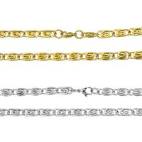 Halskette, Edelstahl, plattiert, Valentino-Kette & für Frau, keine, 14x6mm, verkauft per ca. 23.5 ZollInch Strang