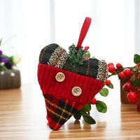 Stoff Weihnachtsschmuck & verschiedene Stile für Wahl, 10PCs/Menge, verkauft von Menge