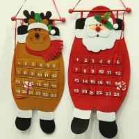 Stoff Weihnachtskalender, Weihnachtsschmuck & verschiedene Stile für Wahl, 700x330mm, 10PCs/Menge, verkauft von Menge