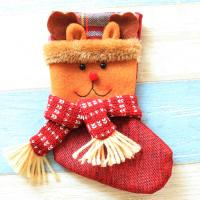 Weihnachtsferien Strümpfe Geschenk Socken, Nichtgewebte Stoffe, Weihnachtssocke, Weihnachtsschmuck & verschiedene Stile für Wahl, 130x200mm, 10PCs/Menge, verkauft von Menge
