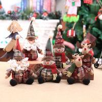 Stoff Weihnachtsschmuck & verschiedene Stile für Wahl, 120x280mm, 130x280mm, 10PCs/Menge, verkauft von Menge