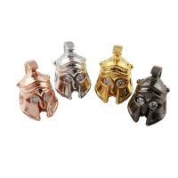 Strass Messing Perlen, Helm, plattiert, mit Strass, keine, frei von Nickel, Blei & Kadmium, 10x16x10mm, Bohrung:ca. 2mm, verkauft von PC