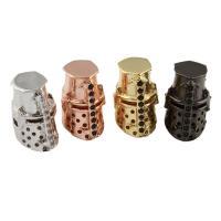 Strass Messing Perlen, plattiert, mit Strass, keine, frei von Nickel, Blei & Kadmium, 9x15x10mm, Bohrung:ca. 2mm, verkauft von PC