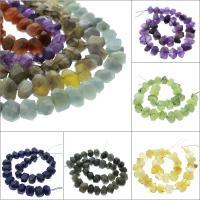 Mischedelstein Perlen, Edelstein, verschiedenen Materialien für die Wahl & facettierte, 18x12x8mm-20x14x12mm, Bohrung:ca. 1mm, verkauft per ca. 15.3 ZollInch Strang