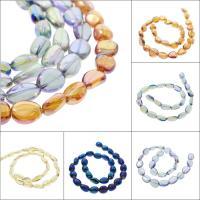 Natürlicher Quarz Perlen Schmuck, bunte Farbe plattiert, verschiedene Größen vorhanden, keine, Bohrung:ca. 1mm, verkauft per ca. 15.7 ZollInch Strang