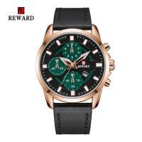 Reward® Uhrenkollektion, Zinklegierung, mit PU Leder & Glas, plattiert, für den Menschen, keine, 45mm, Länge:ca. 9.4 ZollInch, verkauft von PC