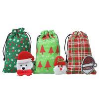 Weihnachtsgeschenkbeutel, Nichtgewebte Stoffe, verschiedene Stile für Wahl, 190x125mm, 20PCs/Menge, verkauft von Menge