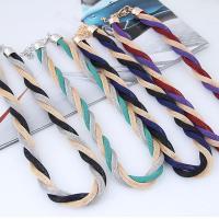 Zinklegierung Schmucksets, Ohrring & Halskette, mit Nylonschnur, plattiert, für Frau, keine, frei von Blei & Kadmium,  63x25mm, Länge:ca. 17.7 ZollInch, verkauft von setzen
