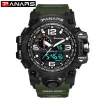PANARS® Uhrenkollektion, Edelstahl, mit Silikon & Kunststoff, plattiert, Multifunktions & einstellbar & LED & für den Menschen, keine, 55x17mm, 27mm, Länge:ca. 10 ZollInch, verkauft von PC