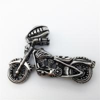 Edelstahl Schmuck Anhänger, Motorrad, Schwärzen, 44x25mm, Bohrung:ca. 2-4mm, verkauft von PC