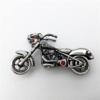 Edelstahl Schmuck Anhänger, Motorrad, mit Strass & Schwärzen, 47x23mm, verkauft von PC