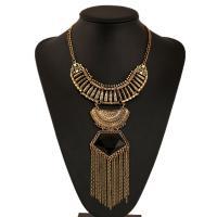 Zinklegierung Schmuck Halskette, mit Verlängerungskettchen von 5cm, plattiert, unisex & Oval-Kette & mit Strass, keine, frei von Blei & Kadmium, verkauft per ca. 17.7 ZollInch Strang