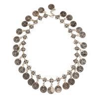 Zinklegierung Schmuck Halskette, mit Verlängerungskettchen von 5cm, antik silberfarben plattiert, unisex, frei von Blei & Kadmium, 40mm, verkauft per ca. 17.7 ZollInch Strang
