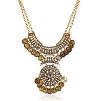Zinklegierung Schmuck Halskette, mit Verlängerungskettchen von 5cm, plattiert, unisex & Twist oval, keine, frei von Blei & Kadmium, 55x100mm, verkauft per ca. 17.7 ZollInch Strang