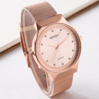 Damen Armbanduhr, Zinklegierung, mit Glas, plattiert, für Frau & mit Strass, keine, frei von Nickel, Blei & Kadmium, 40mm, Länge:ca. 9.5 ZollInch, 2PCs/Menge, verkauft von Menge