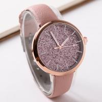Damen Armbanduhr, Zinklegierung, mit PU Leder & Glas, Rósegold-Farbe plattiert, für Frau, keine, frei von Nickel, Blei & Kadmium, 40mm, Länge:ca. 9.5 ZollInch, 2PCs/Menge, verkauft von Menge