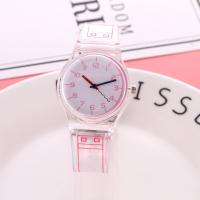 Unisexe Armbanduhr, Kunststoff, mit Glas, keine, 40mm, Länge:ca. 9.5 ZollInch, 2PCs/Menge, verkauft von Menge