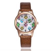 Damen Armbanduhr, PU Leder, mit Zinklegierung Zifferblatt & Glas & Edelstahl, plattiert, für Frau, keine, frei von Nickel, Blei & Kadmium, 33mm, 15mm, Länge:ca. 10 ZollInch, verkauft von PC