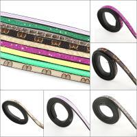 elastische Nylonschnur Multifunktionsleiste Kabel, mit PU Leder, verschiedene Stile für Wahl, 10x2mm, Länge:100 cm, 10Spulen/Tasche, verkauft von Tasche
