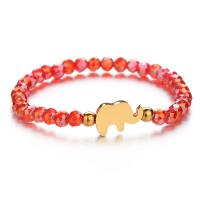 Kristall Armband, mit Edelstahl, Elephant, für Frau, mehrere Farben vorhanden, 10x16mm,5.5mm, verkauft per ca. 6.7 ZollInch Strang