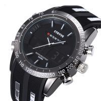 Herren Armbanduhr, Silikon, mit Glas, plattiert, Multifunktions & für den Menschen & wasserdicht, keine, 45mm, Länge:ca. 9.8 ZollInch, verkauft von PC