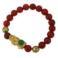 Achat Schmuck Armband, mit Edelstahl, Fabelhaft wildes Tier, goldfarben plattiert, für Frau, 27x14mm, 10mm, verkauft per ca. 8 ZollInch Strang
