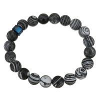 Synthetische Türkis Armband, mit Edelstahl, plattiert, unisex, schwarz, 10mm, verkauft per ca. 7 ZollInch Strang