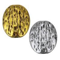 Zinklegierung flache Perlen, flachoval, plattiert, keine, frei von Nickel, Blei & Kadmium, 11x13x5mm, Bohrung:ca. 1.5mm, 100PCs/Menge, verkauft von Menge