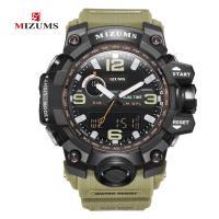 MIZUMS® Uhrenkollektion, Kunststoff, mit Glas & Edelstahl, plattiert, für den Menschen & glänzend, keine, 48mm, Länge:ca. 9 ZollInch, verkauft von PC