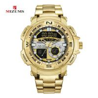 MIZUMS® Uhrenkollektion, Zinklegierung, mit Glas & Edelstahl, plattiert, für den Menschen & glänzend, keine, 44mm, Länge:ca. 8.6 ZollInch, verkauft von PC