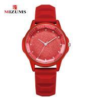 MIZUMS® Uhrenkollektion, Zinklegierung, mit Kunststoff & Glas, silberfarben plattiert, für Frau & mit Strass, keine, 37mm, Länge:ca. 9.2 ZollInch, verkauft von PC