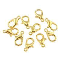 Eisernen Karabinerverschluss, Eisen, goldfarben plattiert, frei von Blei & Kadmium, 12x8x3mm, Bohrung:ca. 1.5mm, 50PCs/Tasche, verkauft von Tasche