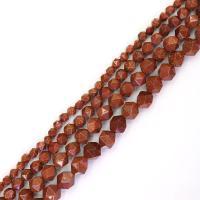 Goldstein Perlen, Goldsand, DIY & verschiedene Größen vorhanden, braun, Bohrung:ca. 1mm, verkauft von Strang