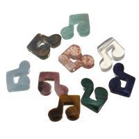 Edelstein-Connector, Edelstein, Musiknote, 1/1-Schleife, 15x12x5mm, Bohrung:ca. 1.5mm, verkauft von PC