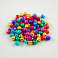 Aluminium Glockenanhänger, plattiert, verschiedene Größen vorhanden, gemischte Farben, frei von Nickel, Blei & Kadmium, Bohrung:ca. 1-3mm, verkauft von PC