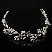 Braut Haar Blumen, Kunststoff Perlen, mit Seedbead & Kristall & Messing, plattiert, für Frau, keine, 350x30mm, verkauft von PC