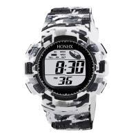 honhx® Uhrenkollektion, Harz, mit PU-Gummi & organisches Glas & Edelstahl, plattiert, unisex & glänzend, keine, 47mm, Länge:ca. 9.4 ZollInch, verkauft von PC