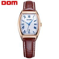 DOM® Uhrenkollektion, Edelstahl, mit Leder & Glas, plattiert, für Frau, keine, 30x25mm, Länge:ca. 6.8 ZollInch, verkauft von PC