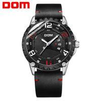 DOM® Uhrenkollektion, Edelstahl, mit PU Leder & Glas, plattiert, für den Menschen, keine, 46mm, Länge:ca. 7.8 ZollInch, verkauft von PC