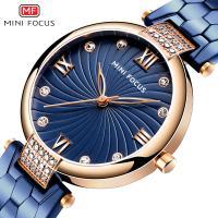 MINIFOCUS® Uhrenkollektion, Edelstahl, mit Glas & Zinklegierung, plattiert, für Frau & mit Strass, keine, 33mm, Länge:ca. 8 ZollInch, verkauft von PC