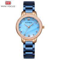 MINIFOCUS® Uhrenkollektion, Edelstahl, mit Glas & Zinklegierung, plattiert, für Frau & mit Strass, keine, 32.5mm, Länge:ca. 8.4 ZollInch, verkauft von PC