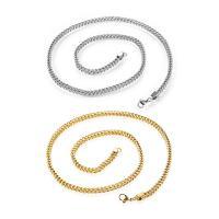 Halskette, Edelstahl, plattiert, unisex & verschiedene Größen vorhanden & Kandare Kette, keine, verkauft per ca. 24 ZollInch Strang