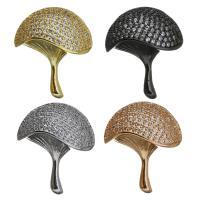 Messing Anhänger Stiftöse, Pilz, plattiert, mit Schleife & Micro pave Zirkonia, keine, 20x24x13mm, Bohrung:ca. 1.5mm, 4x7mm, verkauft von PC