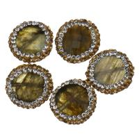 Labradorit Perlen, mit Ton, facettierte, 16x5mm, Bohrung:ca. 0.5mm, 10PCs/Menge, verkauft von Menge