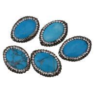 Türkis Perlen, Synthetische Türkis, mit Ton, 17x22x7mm, Bohrung:ca. 1mm, 10PCs/Menge, verkauft von Menge