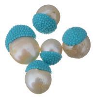 Barock kultivierten Süßwassersee Perlen, Natürliche kultivierte Süßwasserperlen, mit Harz, 12-18x12-25x12-15mm, Bohrung:ca. 0.5mm, 10PCs/Menge, verkauft von Menge
